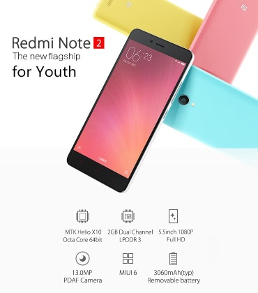 Скидка на XIAOMI RedMi Note 2 32GB